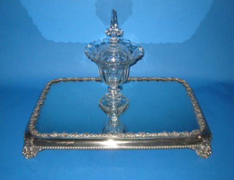 Regency Old Sheffield Plate Silver Mirror Plaque. - Click to enlarge and for full details.