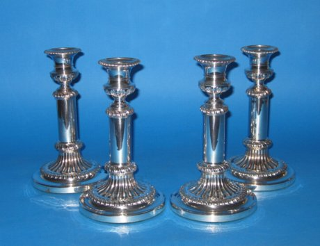 Set of Four Telescopic Candlesticks, circa 1810-15. - Click to enlarge and for full details.