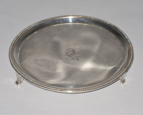 Small Late 18th Century Salver, circa 1775. - Click to enlarge and for full details.