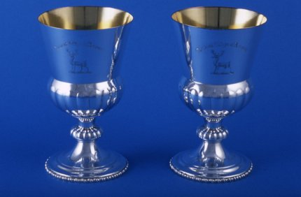 Pair of 19th Century Goblets - Click to enlarge and for full details.