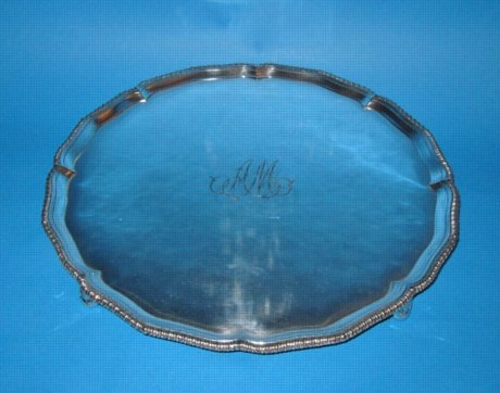 A George III Salver, possibly by Tudor & Leader, unmarked, circa 1780. - Click to enlarge and for full details.