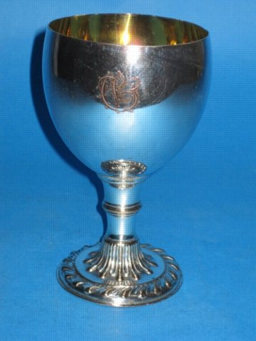 A George III Goblet, circa 1780. - Click to enlarge and for full details.