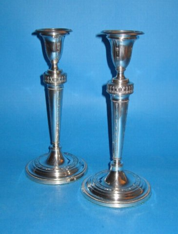 A pair of George III Candlesticks, circa 1780. - Click to enlarge and for full details.