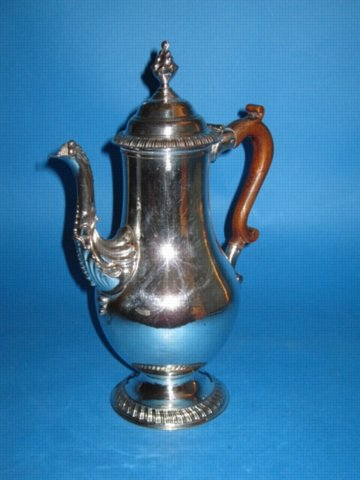 A George III Coffee Pot, by Henry Tudor & Co., circa 1765. - Click to enlarge and for full details.