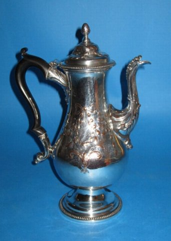 A George III Coffee Pot, circa 1775. - Click to enlarge and for full details.