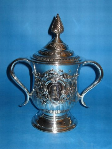 A Fine & Rare large George III Two Handled Cup & Cover, by Tudor & Co., circa 1765. - Click to enlarge and for full details.