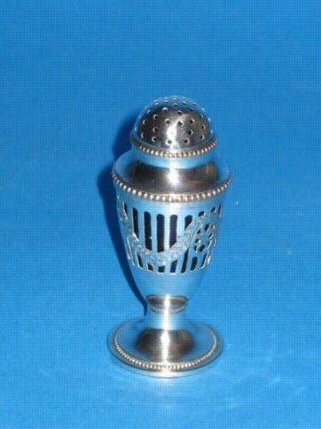 A George III Bun Pepper Pot, circa 1790. - Click to enlarge and for full details.