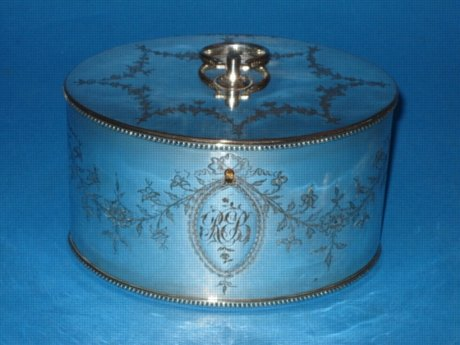 A George III Double Tea Caddy, circa 1780. - Click to enlarge and for full details.