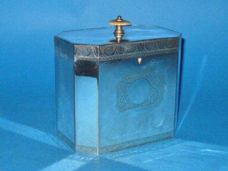 A George III Tea Caddy, circa 1790. - Click to enlarge and for full details.