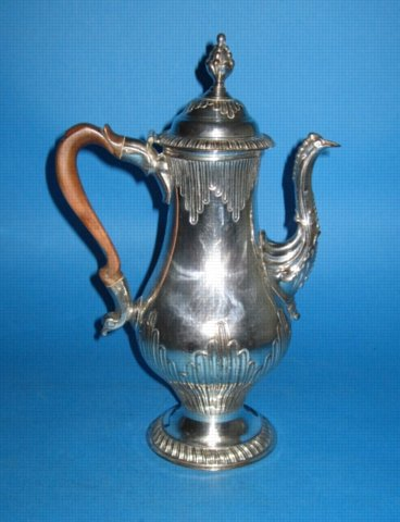 A George III Coffee Pot, circa 1765. - Click to enlarge and for full details.