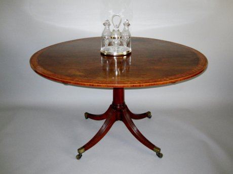 SHERATON ROSEWOOD & INLAID OVAL BREAKFAST TABLE. CIRCA 1790. - Click to enlarge and for full details.