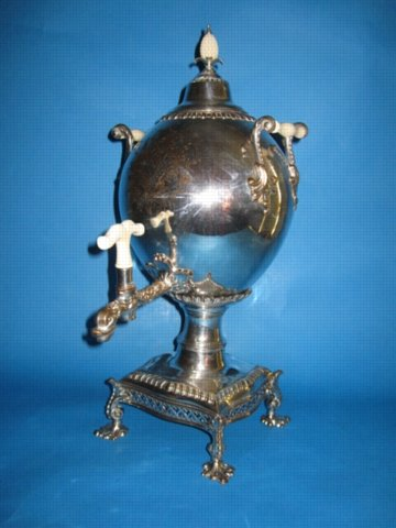 George III Old Sheffield Plate Tea Urn & Cover, probably by Henry Tudor & Co., circa 1765. - Click to enlarge and for full details.