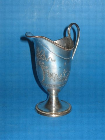 George III Old Sheffield Plate Silver Cream Jug, Circa 1785 - Click to enlarge and for full details.