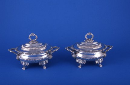 Pair of Regency Sauce Tureens - Click to enlarge and for full details.
