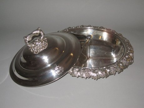 Old Shefield Plate Serving Dish, circa 1825. - Click to enlarge and for full details.