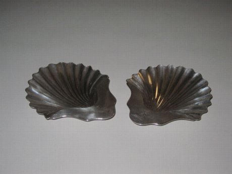 Pair George III Old Sheffield Plate Silver Butter Shells, circa 1790 - Click to enlarge and for full details.