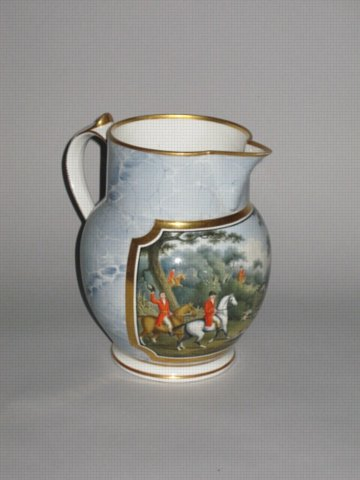 REGENCY CHAMBERLAIN'S WORCESTER JUG, CIRCA 1810 - Click to enlarge and for full details.