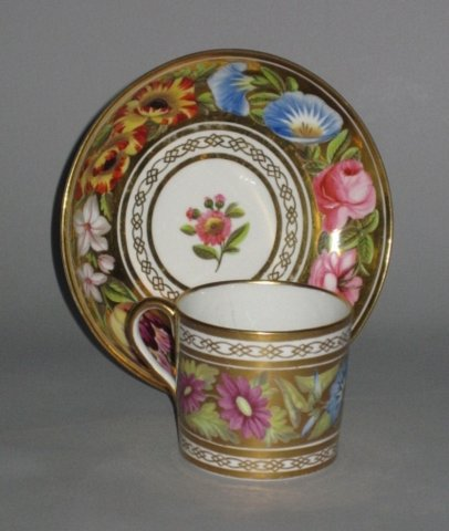 COALPORT Coffee Can & Saucer. Circa 1815. - Click to enlarge and for full details.