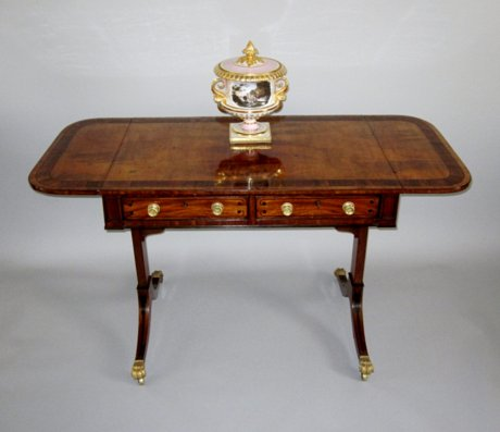 REGENCY MAHOGANY SOFA TABLE, CIRCA 1815 - Click to enlarge and for full details.