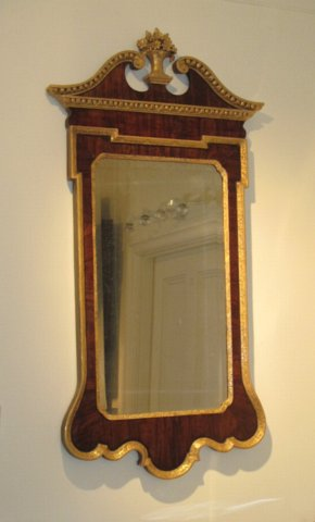 GEORGE II WALNUT & GILTWOOD MIRROR. CIRCA 1745. - Click to enlarge and for full details.