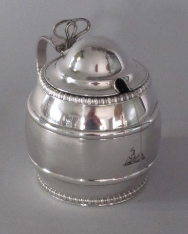George III Old Sheffield Plate Silver Mustard Pot. Circa 1800. - Click to enlarge and for full details.