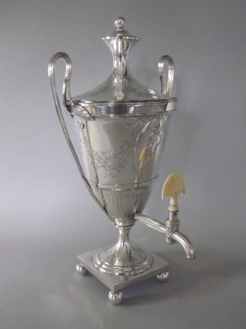 George III Old Sheffield Plate Silver Coffee Urn. Circa 1775. - Click to enlarge and for full details.