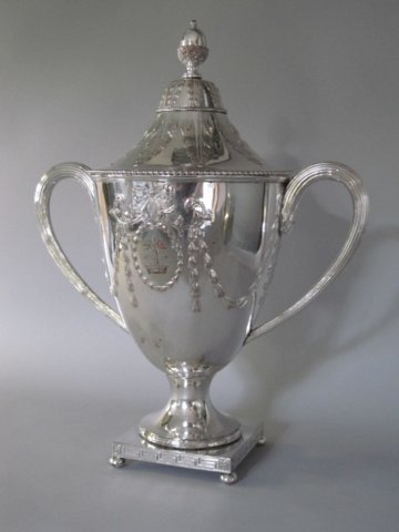 Rare OLD SHEFFIELD PLATE SILVER CUP & COVER, Circa 1775 - Click to enlarge and for full details.
