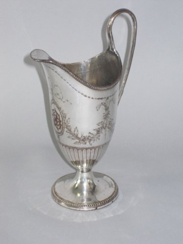 George III Old Sheffield Plate Silver Jug. Circa 1775 - Click to enlarge and for full details.