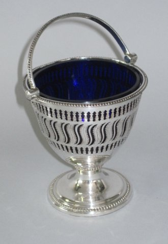 Old Sheffield Plate Silver Sugar Basket, circa 1775. - Click to enlarge and for full details.