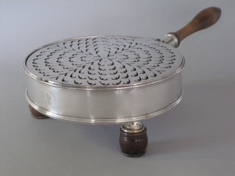Rare OLD SHEFFIELD PLATE SILVER Charcoal Brazier, circa1790 - Click to enlarge and for full details.