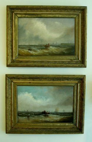 A Pair of Seascapes. FW BARTHOLOMEW. British 19th Century. - Click to enlarge and for full details.