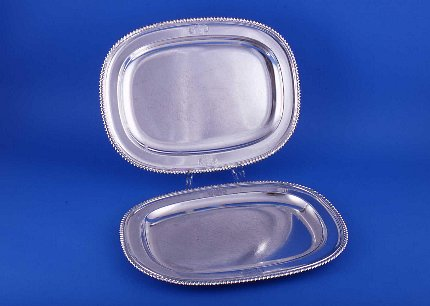 Pair of Mathew Boultom meat dishes or platters - Click to enlarge and for full details.