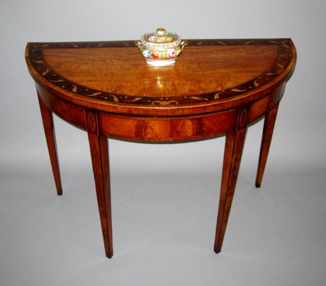 GEORGE III SATINWOOD & INLAID CARD TABLE. CIRCA 1785 - Click to enlarge and for full details.