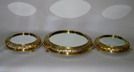 Suite of Silver Gilt Table Plateau - Click to enlarge and for full details.