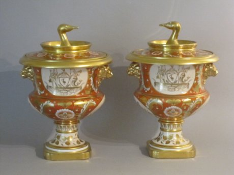 Rare Pair Herculaneum Porcelain Fruit Coolers from the Liverpool Service - Click to enlarge and for full details.