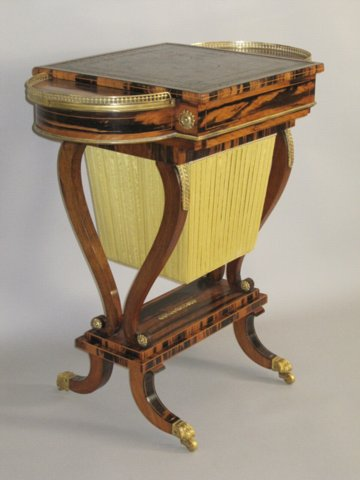 REGENCY COROMANDEL & GILT MOUNT WRITING & GAMES TABLE. CIRCA 1825 - Click to enlarge and for full details.