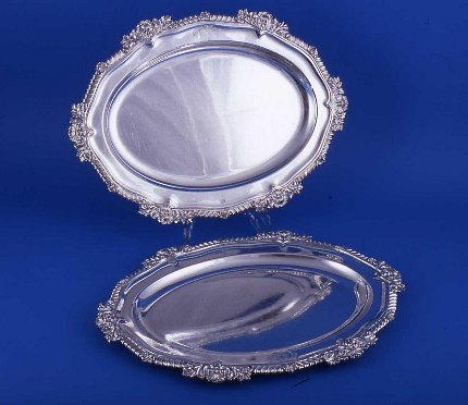 Pair of Regency Meat Dishes - Click to enlarge and for full details.