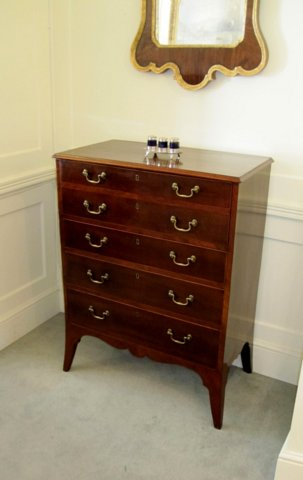 GEORGE III HAREWOOD SECRETAIRE CHEST, CIRCA 1785 - Click to enlarge and for full details.