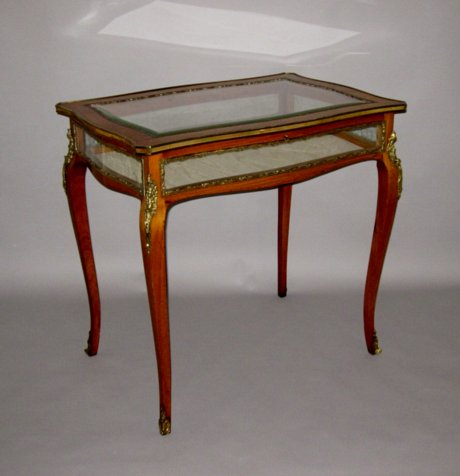 TULIPWOOD & ORMOLU MOUNTED VITRINE TABLE. CIRCA 1840 - Click to enlarge and for full details.