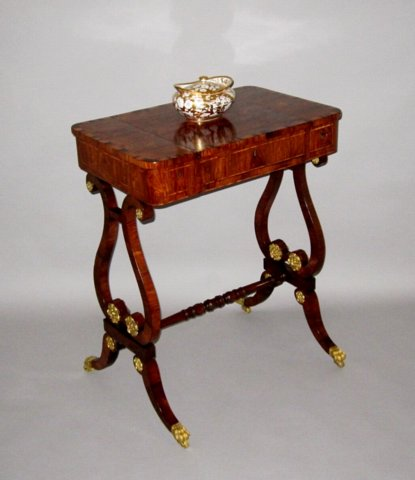 REGENCY ROSEWOOD GAMES TABLE> GEORGE IV, CIRCA 1825  - Click to enlarge and for full details.