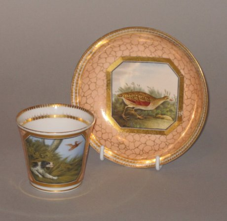 CHAMBERLAINS WORCESTER CUP & SAUCER, CIRCA 1814-16 - Click to enlarge and for full details.