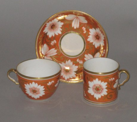 SPODE PORCELAIN TRIO, CIRCA 1810 - Click to enlarge and for full details.