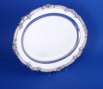 Regency Old Sheffield Plate Meat Dish - Click to enlarge and for full details.