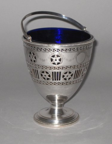 OLD SHEFFIELD PLATE SILVER CREAM PAIL, CIRCA 1775. - Click to enlarge and for full details.