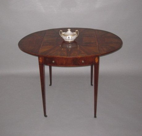 GEORGE III MAHOGANY PEMBROKE TABLE CIRCA 1780 - Click to enlarge and for full details.