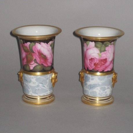 A FINE PAIR OF BARR FLIGHT & BARR WORCESTER PORCELAIN VASES, CIRCA 1804-13.  - Click to enlarge and for full details.