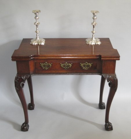 GEORGE II MAHOGANY GAMES TABLE. CIRCA 1750 - Click to enlarge and for full details.