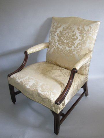 CHIPPENDALE PERIOD MAHOGANY GAINSBOROUGH CHAIR. CIRCA 1770 - Click to enlarge and for full details.