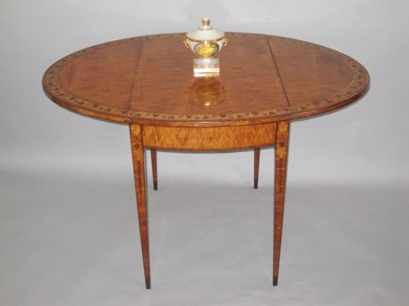 18th CENTURY SATINWOOD & INLAID PEMBROKE TABLE. CIRCA 1780 - Click to enlarge and for full details.