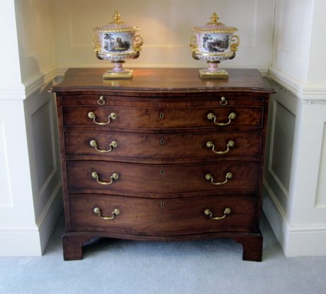 MAHOGANY SERPENTINE CHEST. CIRCA 1770 - Click to enlarge and for full details.